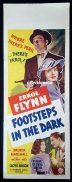 FOOTSTEPS IN THE DARK Long Daybill Movie poster ERROL FLYNN Brenda Marshall