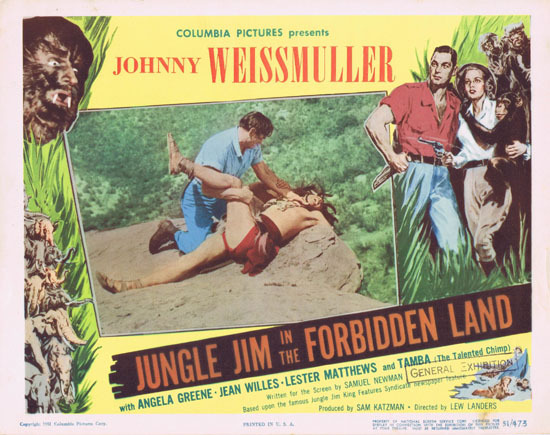JUNGLE JIM IN THE FORBIDDEN LAND 1951 Lobby Card 3 Johnny Weissmuller