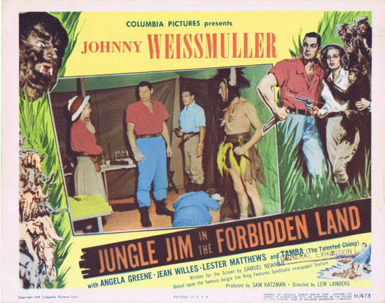 JUNGLE JIM IN THE FORBIDDEN LAND 1951 Lobby Card 4 Johnny Weissmuller