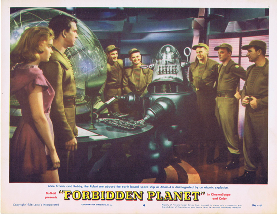 FORBIDDEN PLANET 1956 Lobby Card 4 Robby the Robot