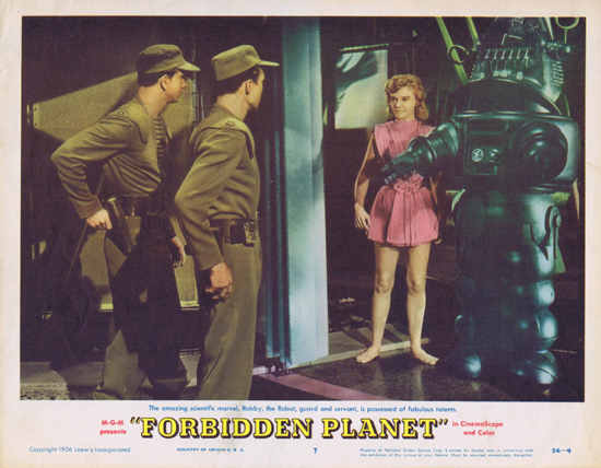 FORBIDDEN PLANET 1956 Lobby Card 7 Robby the Robot
