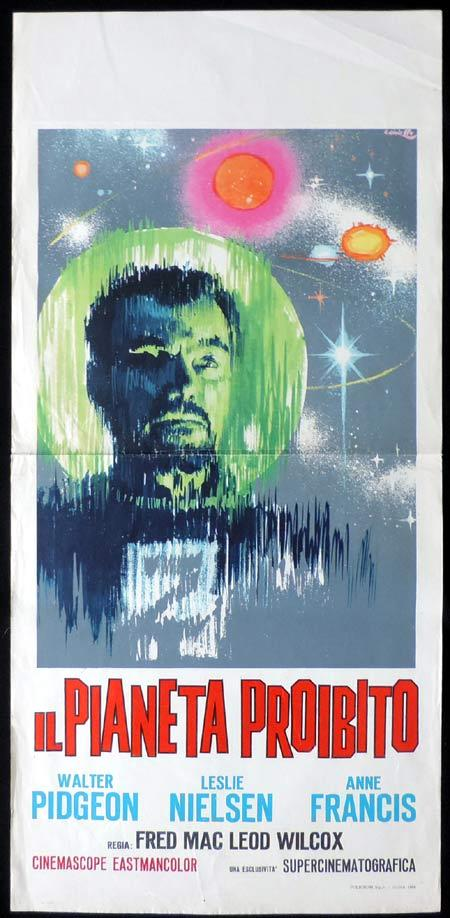 FORBIDDEN PLANET 1964r Italian Locandina Movie Poster Walter Pidgeon Sci Fi