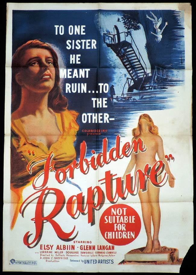 FORBIDDEN RAPTURE One Sheet Movie Poster Glenn Langan