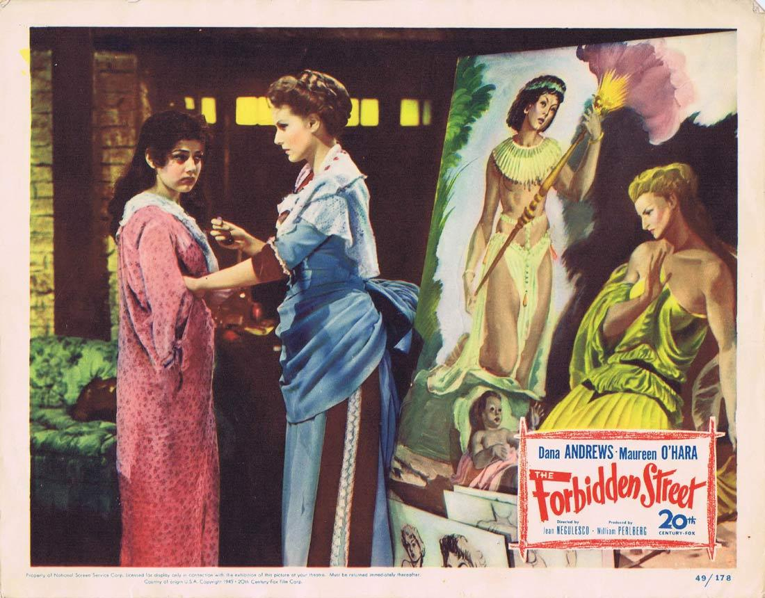 THE FORBIDDEN STREET Lobby Card 8 Dana Andrews Maureen O'Hara Sybil Thorndike