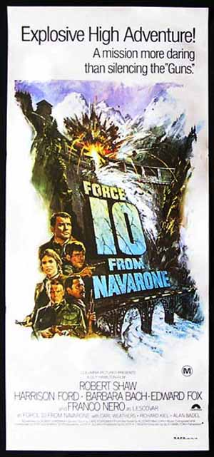 FORCE 10 FROM NAVARONE Daybill Movie Poster Harrison Ford