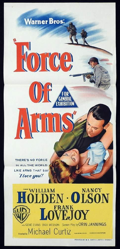 FORCE OF ARMS Original Daybill Movie Poster William Holden Nancy Olson