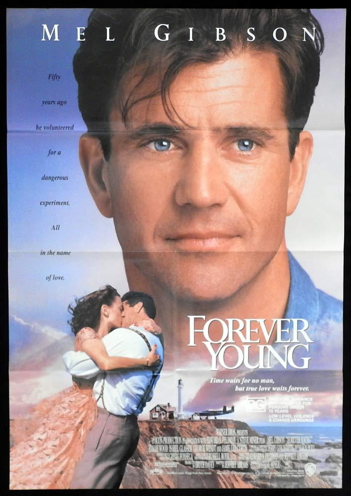 FOREVER YOUNG One sheet Movie Poster Mel Gibson Jamie Lee Curtis