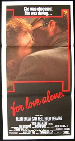 FOR LOVE ALONE '86 Sam Neill Hugo Weaving RARE Daybill poster
