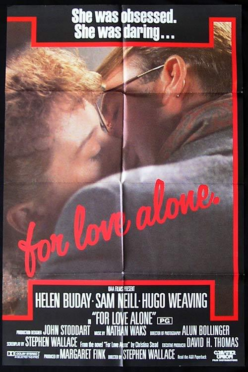 FOR LOVE ALONE '86 Sam Neill Hugo Weaving RARE One sheet poster
