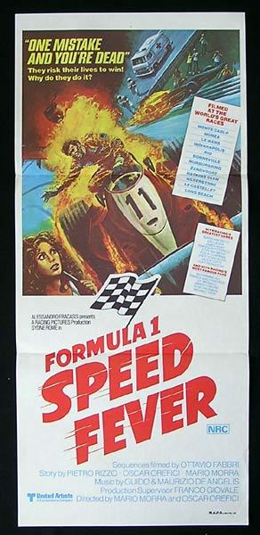 SPEED FEVER Original Daybill Movie Poster Mario Andretti Formula One