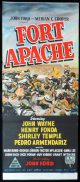 FORT APACHE Original Daybill Movie Poster John Wayne John Ford RKO