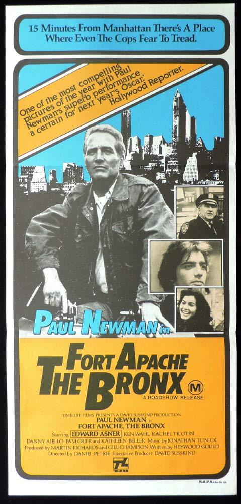 FORT APACHE THE BRONX Original Daybill Movie poster Paul Newman Edward Asner