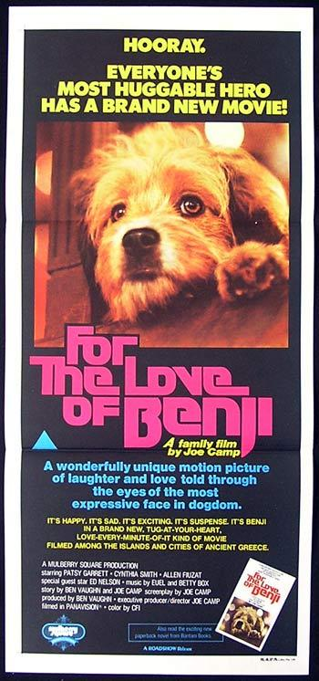 FOR THE LOVE OF BENJI Australian Daybill Movie Poster Joe Camp
