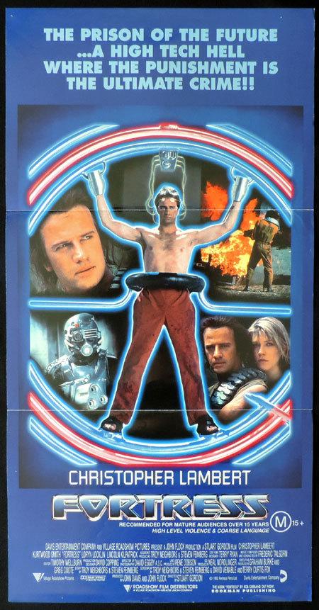 FORTRESS Original Australian Daybill Movie poster Christopher Lambert