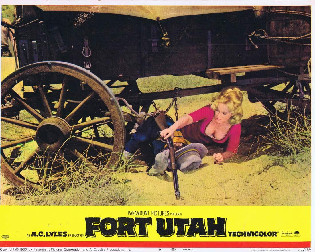 FORT UTAH Lobby Card 6 John Ireland Virginia Mayo