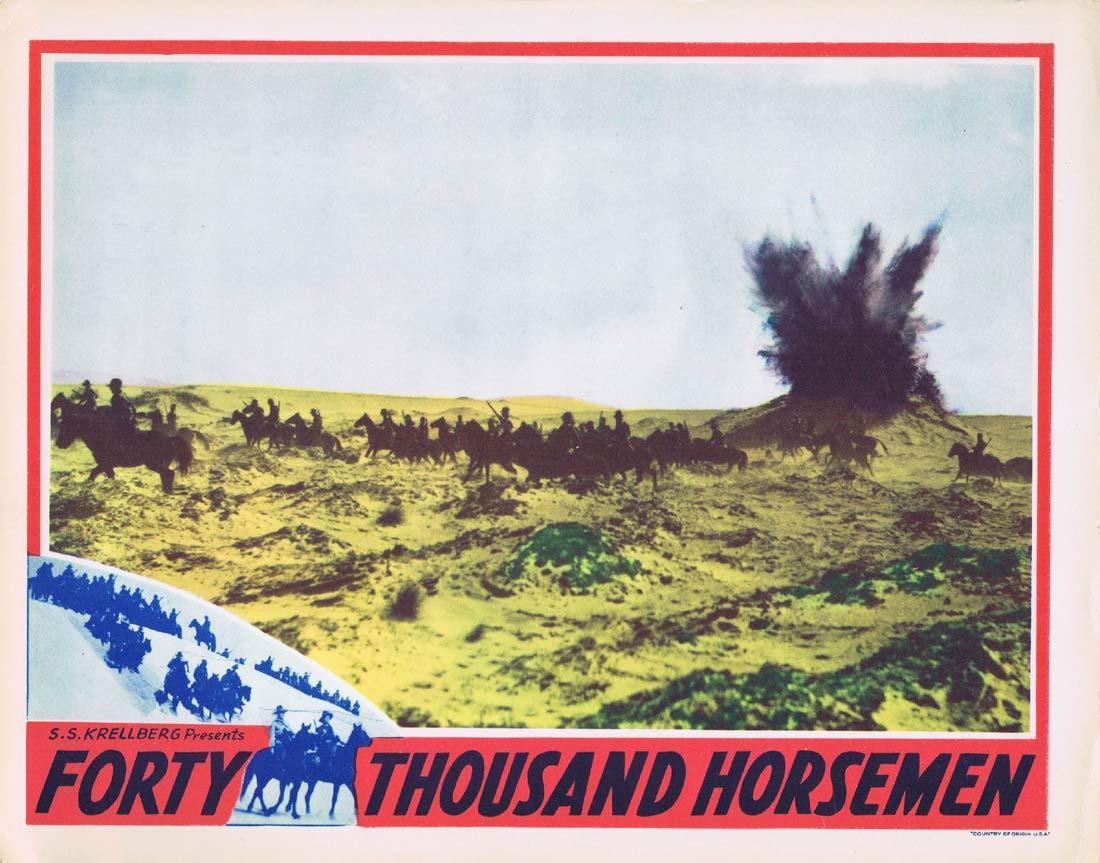 FORTY THOUSAND HORSEMEN Original Lobby Card 3Charles Chauvel