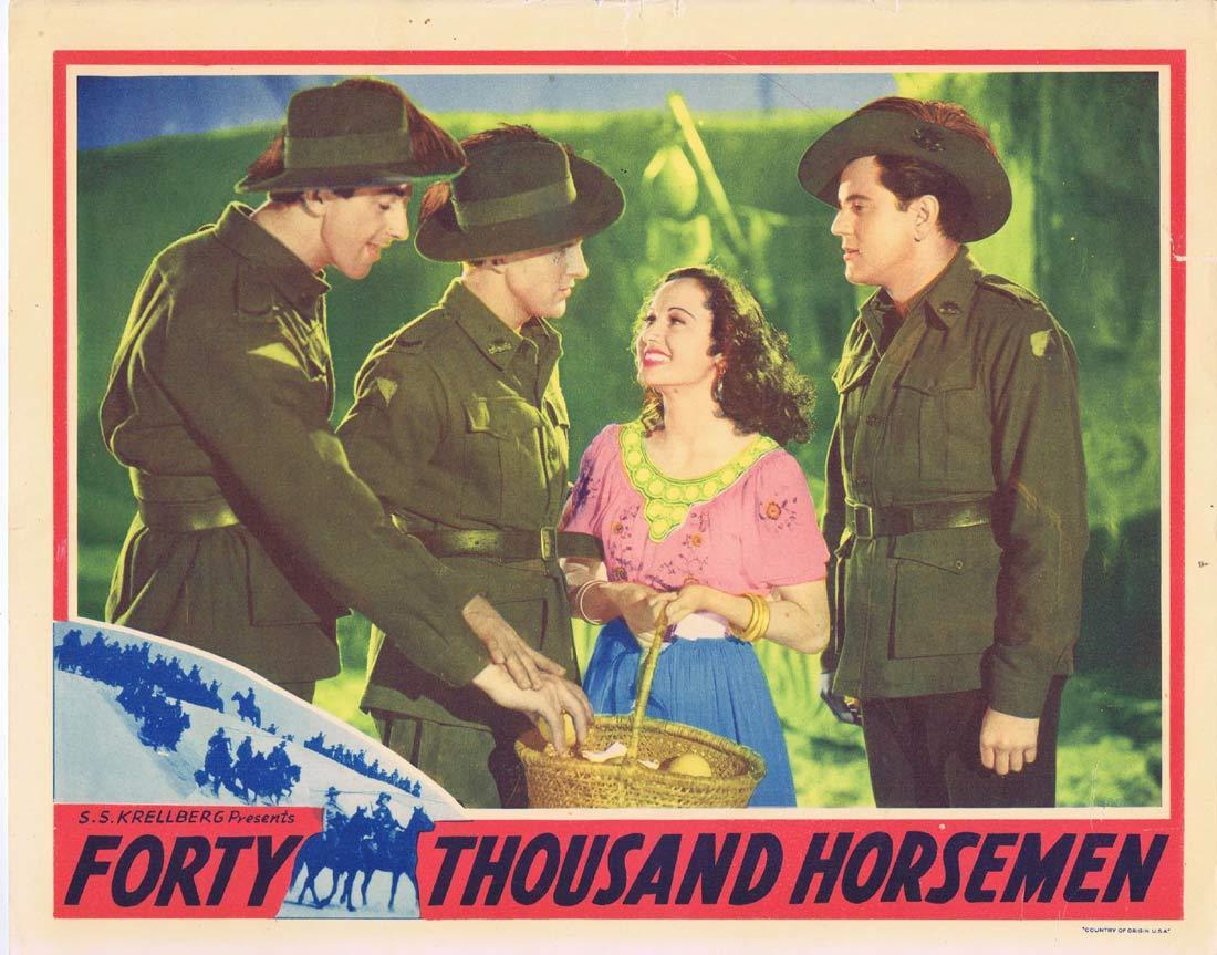 FORTY THOUSAND HORSEMEN Original Lobby Card 4 Charles Chauvel