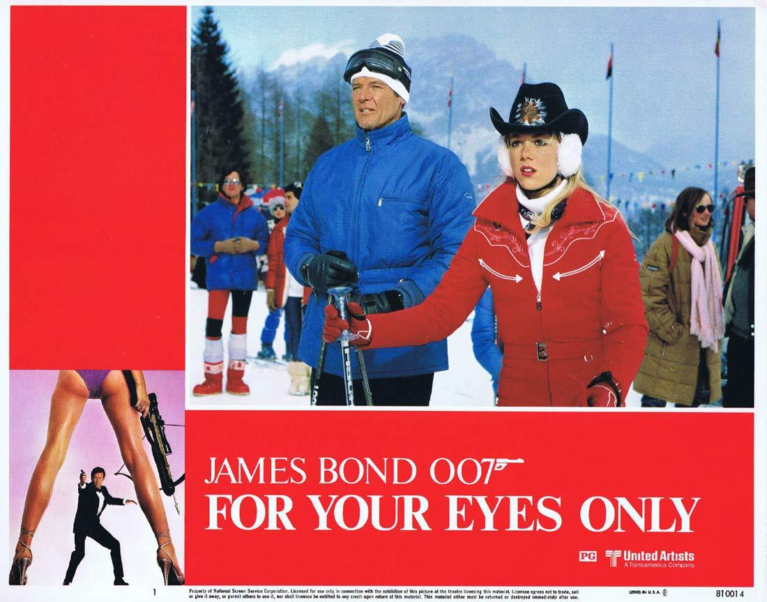 FOR YOUR EYES ONLY Original Lobby Card 1 Roger Moore James Bond