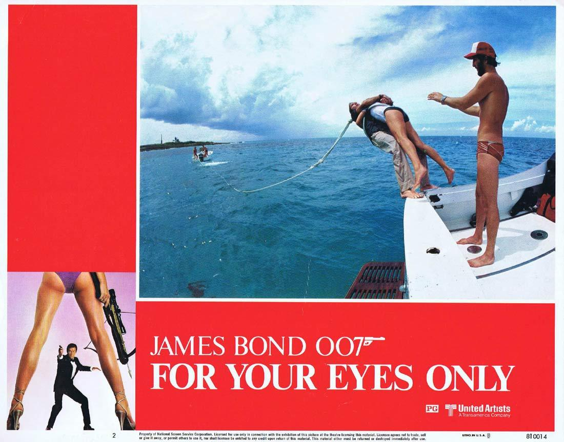 FOR YOUR EYES ONLY Original Lobby Card 2 Roger Moore James Bond