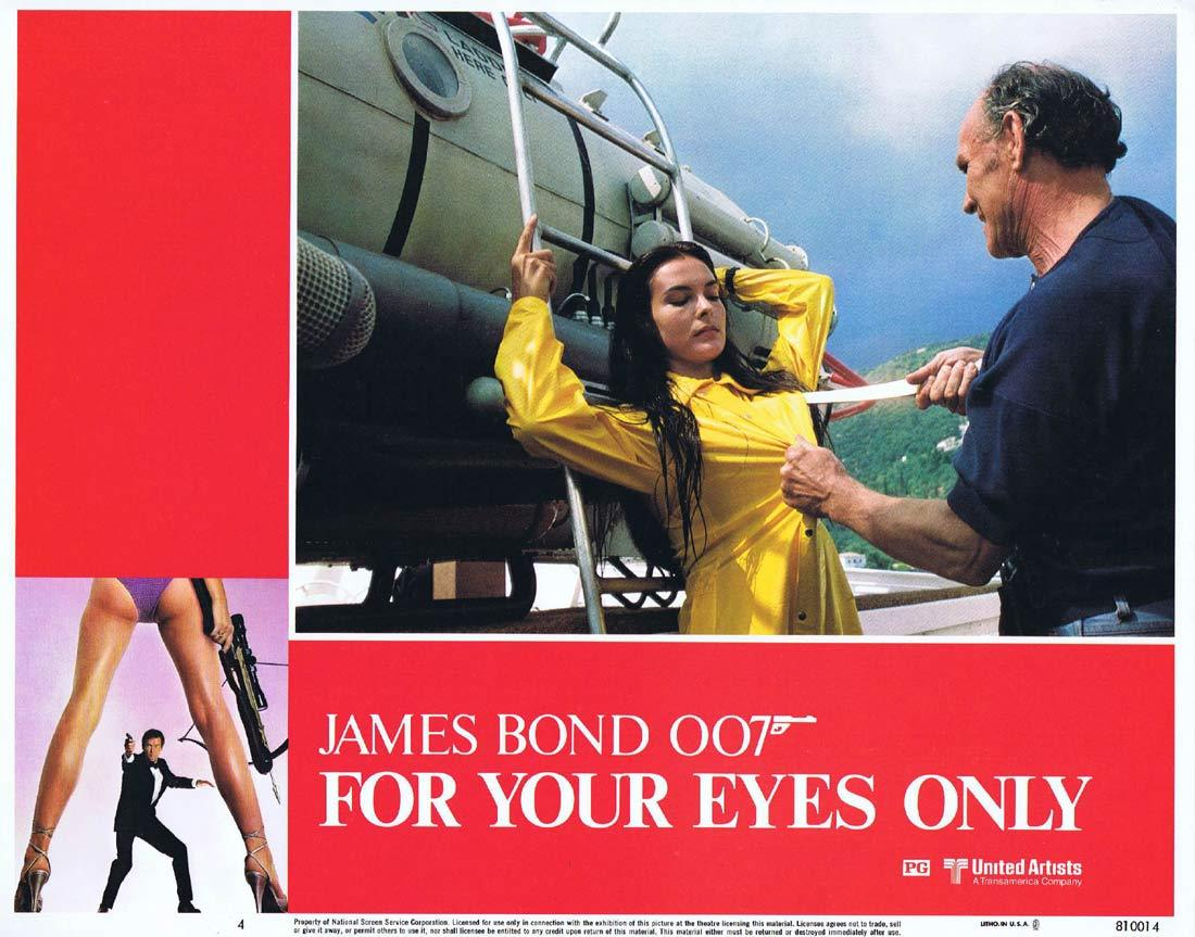 FOR YOUR EYES ONLY Original Lobby Card 4 Roger Moore James Bond