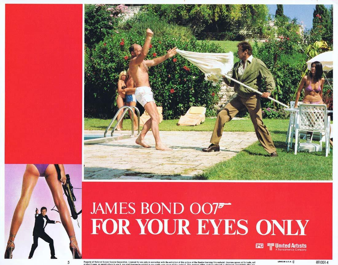 FOR YOUR EYES ONLY Original Lobby Card 5 Roger Moore James Bond