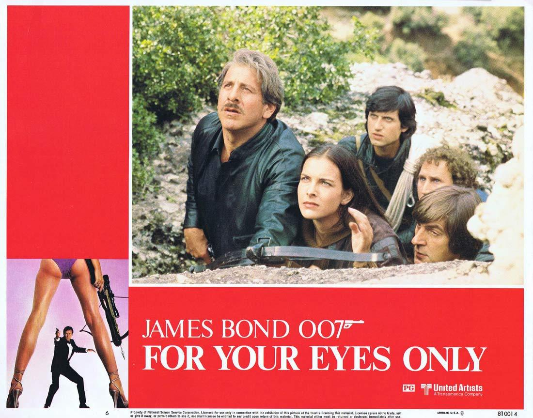 FOR YOUR EYES ONLY Original Lobby Card 6 Roger Moore James Bond
