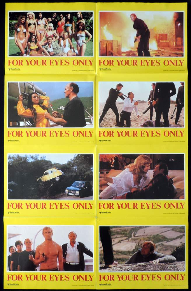 FOR YOUR EYES ONLY Original Photo sheet Movie poster Roger Moore James Bond