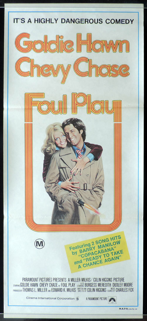 FOUL PLAY Australian Daybill Movie poster Chevy Chase Goldie Hawn