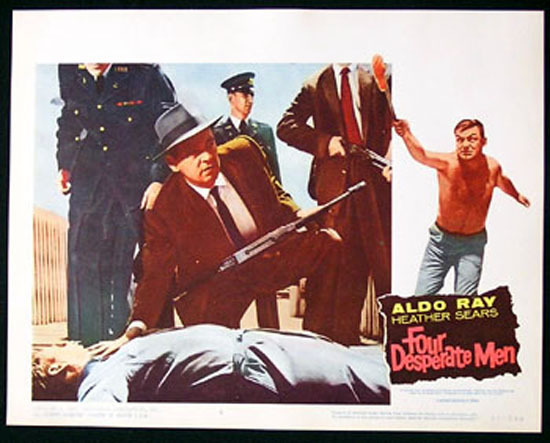 SIEGE OF PINCHGUT aka FOUR DESPERATE MEN 1959 Harry Watt EALING Lobby Card #2