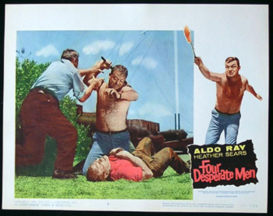 SIEGE OF PINCHGUT aka FOUR DESPERATE MEN 1959 Harry Watt EALING Lobby Card #3