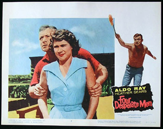 SIEGE OF PINCHGUT aka FOUR DESPERATE MEN 1959 Harry Watt EALING Lobby Card #7