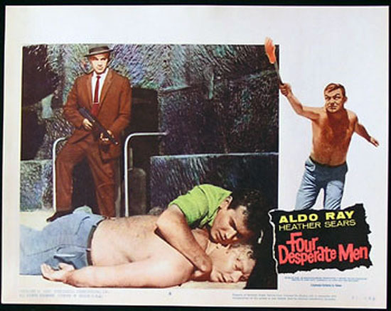 SIEGE OF PINCHGUT aka FOUR DESPERATE MEN 1959 Harry Watt EALING Lobby Card #8
