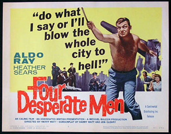 SIEGE OF PINCHGUT aka FOUR DESPERATE MEN 1959 Harry Watt EALING Title Card