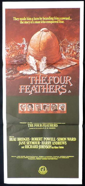 THE FOUR FEATHERS Daybill Movie poster