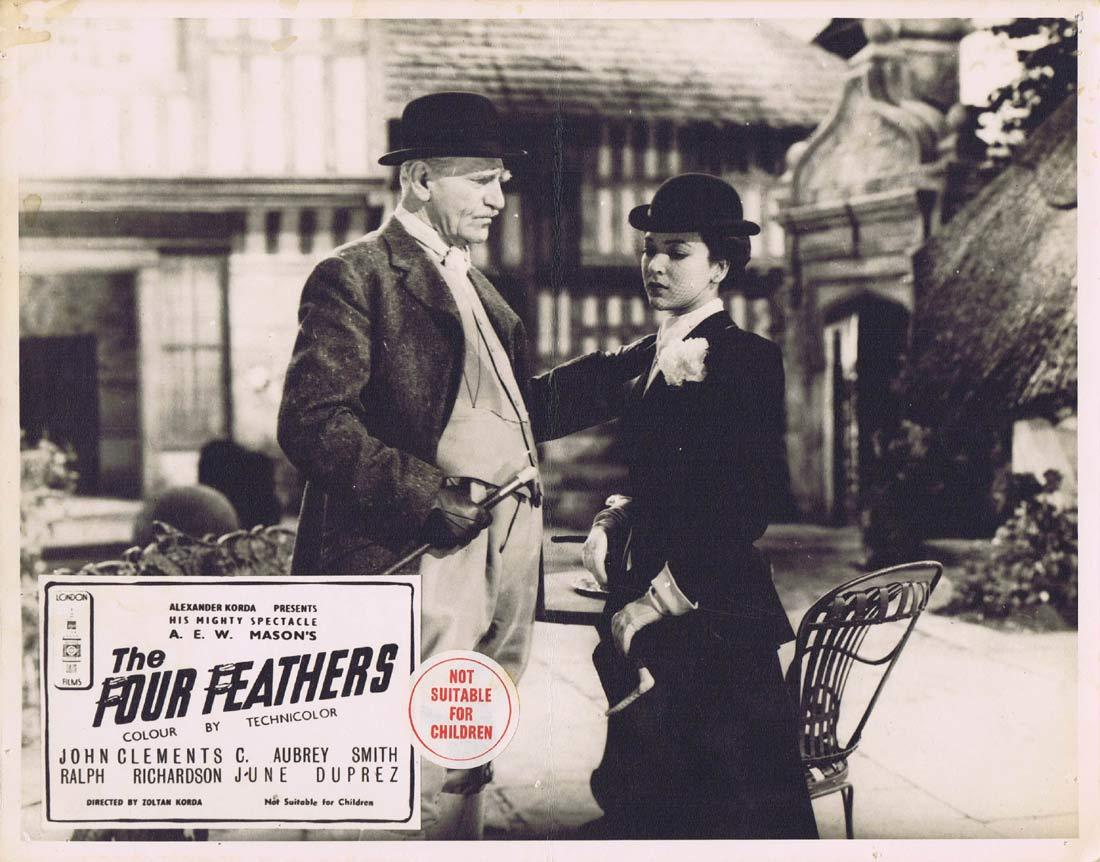 THE FOUR FEATHERS Original Australian Lobby Card C. Aubrey Smith June Duprez