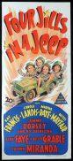 FOUR JILLS IN A JEEP Original Daybill Movie Poster Carole Landis