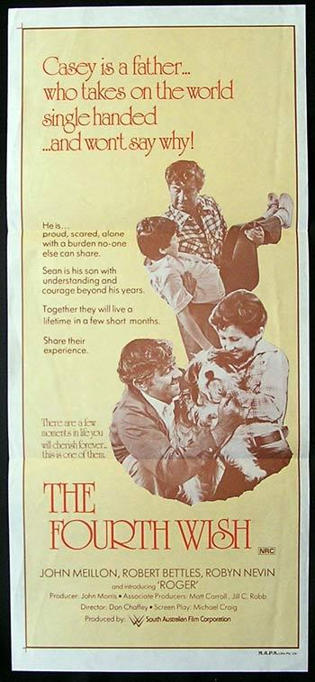 FOURTH WISH Movie Poster 1976 John Meillon ORIGINAL Daybill
