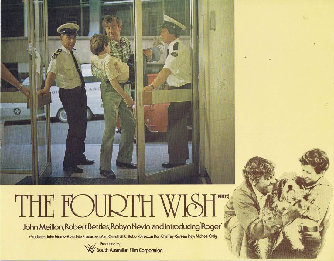 THE FOURTH WISH Original Lobby Card 4 John Meillon Robert Bettles