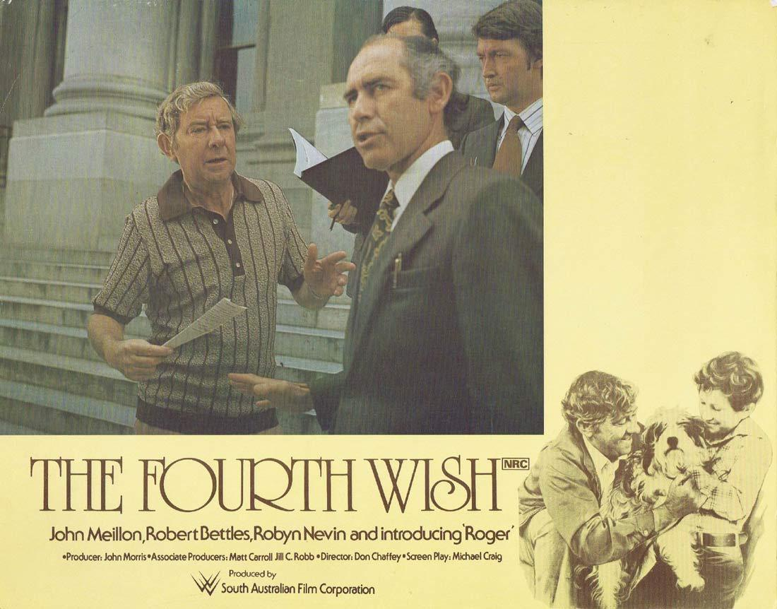 THE FOURTH WISH Original Lobby Card 1 John Meillon Robert Bettles