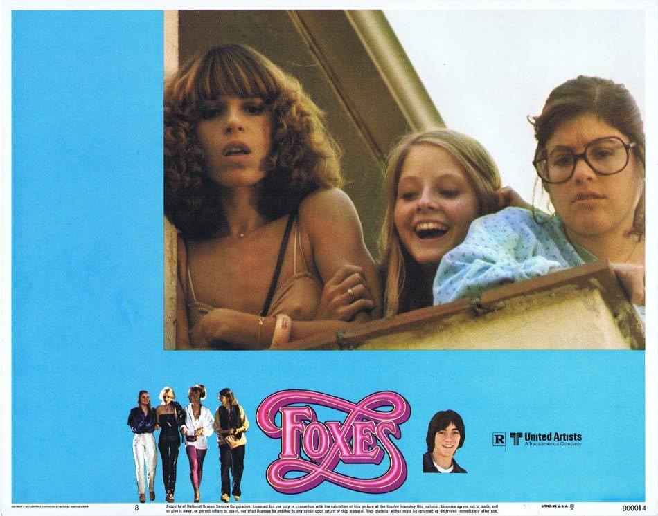 FOXES Lobby Card 8 Jodie Foster Scott Baio Sally Kellerman Randy Quaid