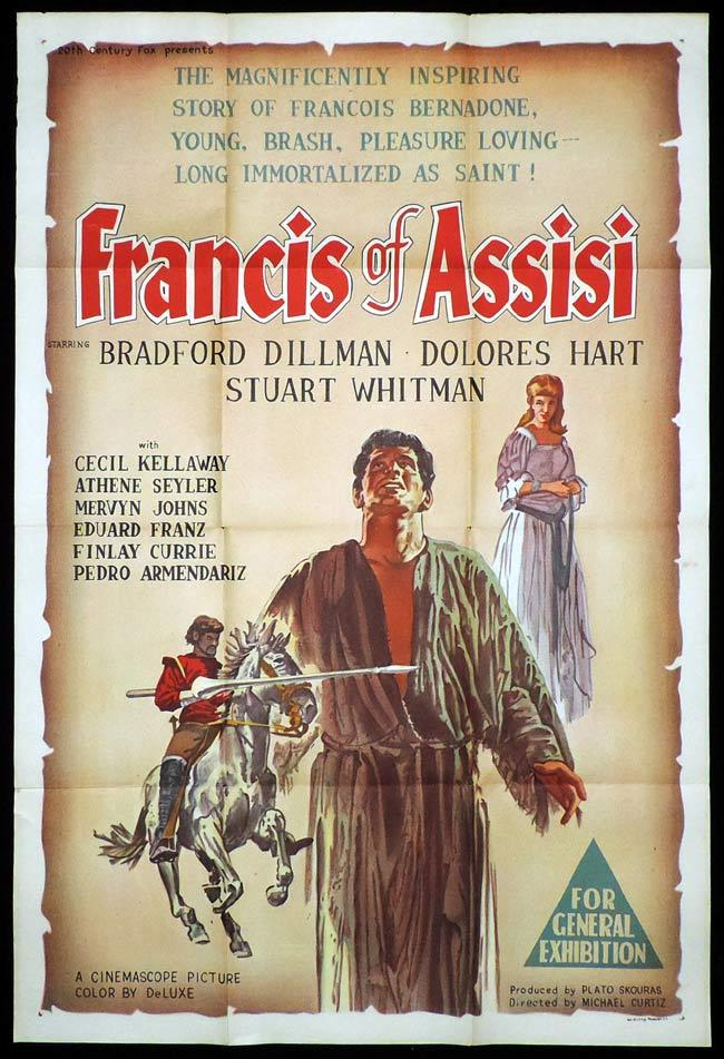 FRANCIS OF ASSISI One Sheet Movie Poster Bradford Dillman