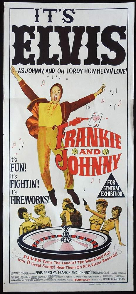 FRANKIE AND JOHNNY Original Daybill Movie poster