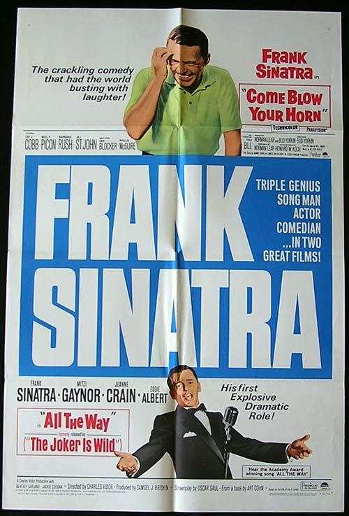 FRANK SINATRA '66 Come Blow Your Horn/Joker is Wild US 1 sheet poster