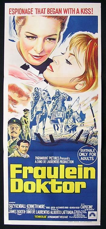 FRAULEIN DOKTOR Movie Poster 1969 Suzy Kendall Kenneth More poster