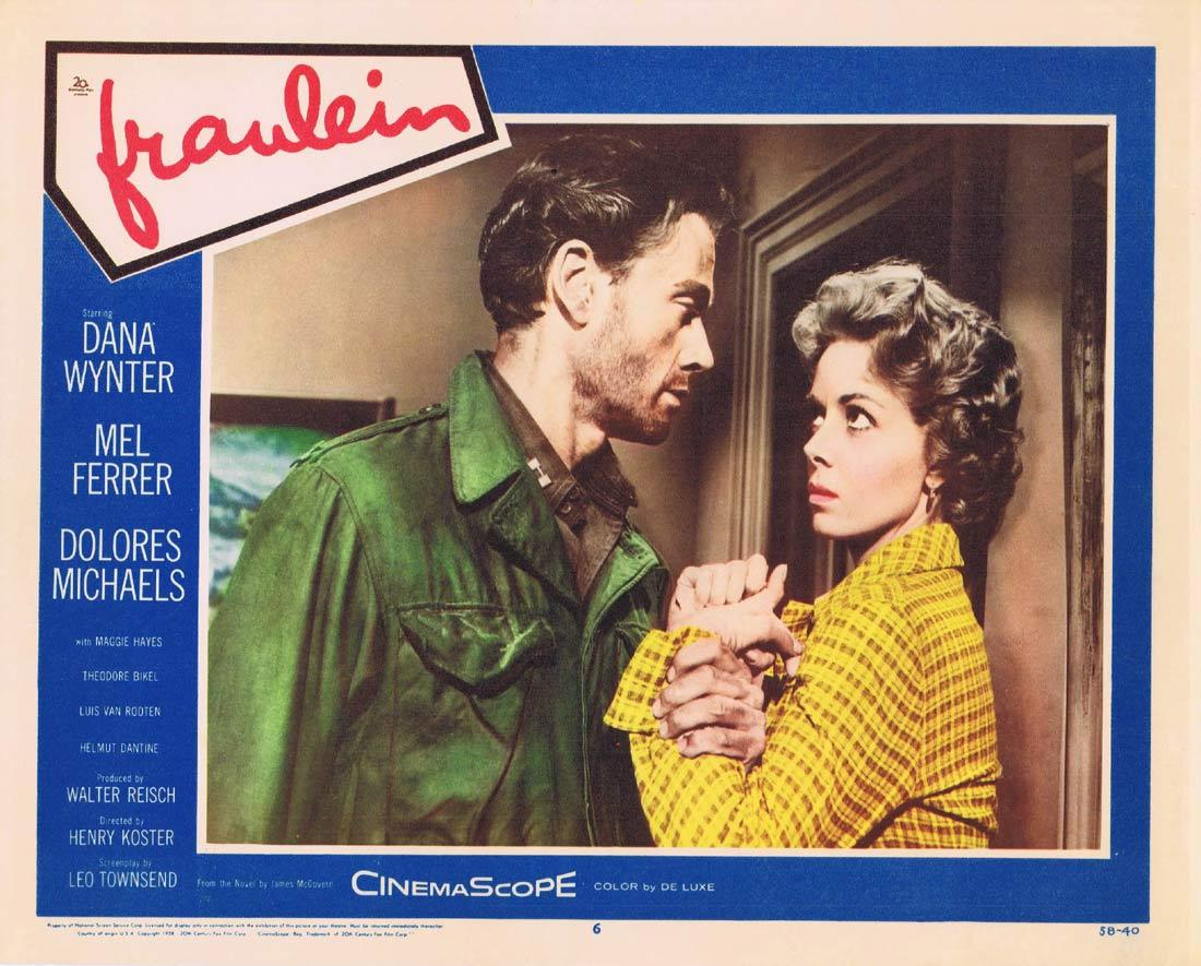 FRAULEIN Lobby Card 6 Dana Wynter Mel Ferrer Dolores Michaels