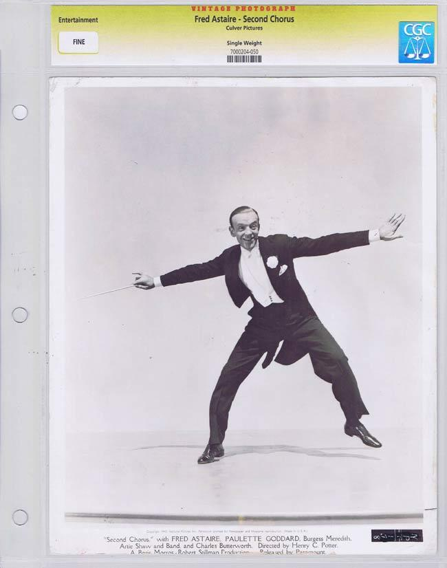 SECOND CHORUS Vintage Movie Still FRED ASTAIRE CGC Graded