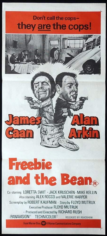 FREEBIE AND THE BEAN Original Daybill Movie poster James Caan Alan Arkin