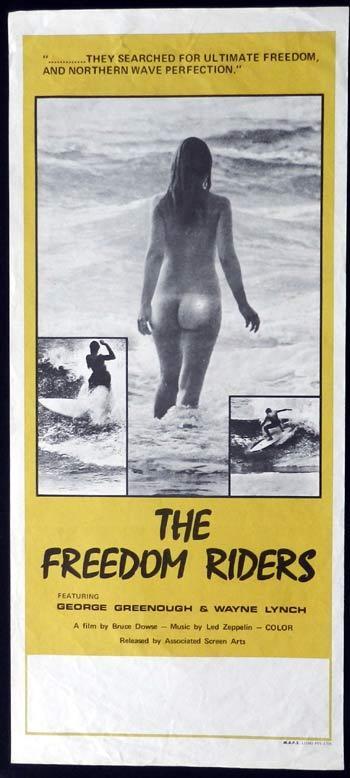 FREEDOM RIDERS Original Daybill Movie poster SURFING ART