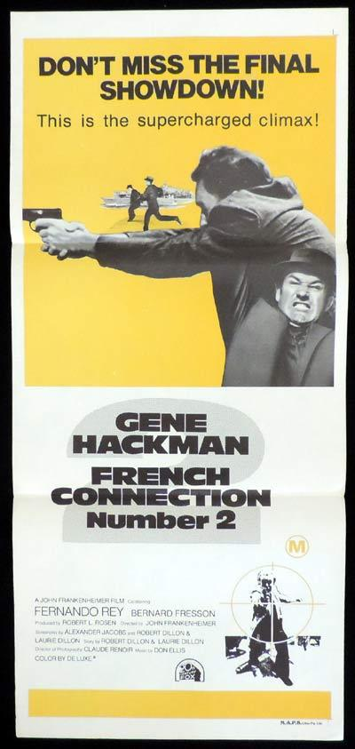 THE FRENCH CONNECTION 2 Daybill Movie Poster Gene Hackman
