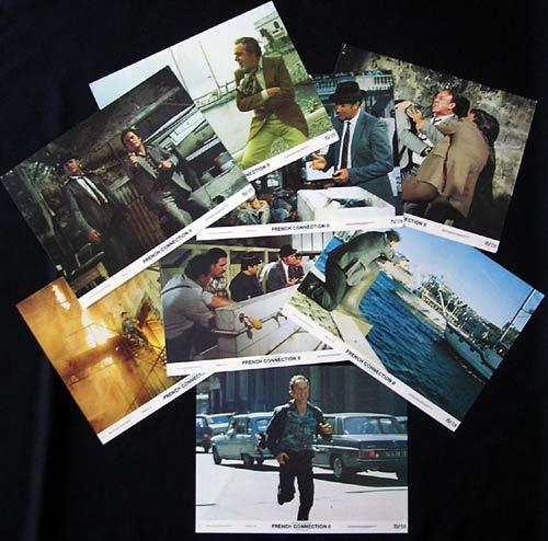 THE FRENCH CONNECTION II Lobby Card Set 1975 Gene Hackman